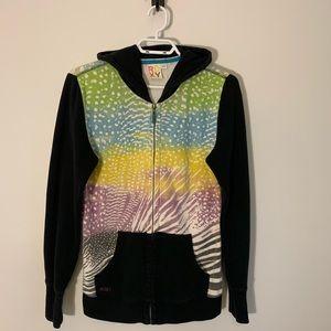 Roxy Women's Zip up Sweater Size Medium